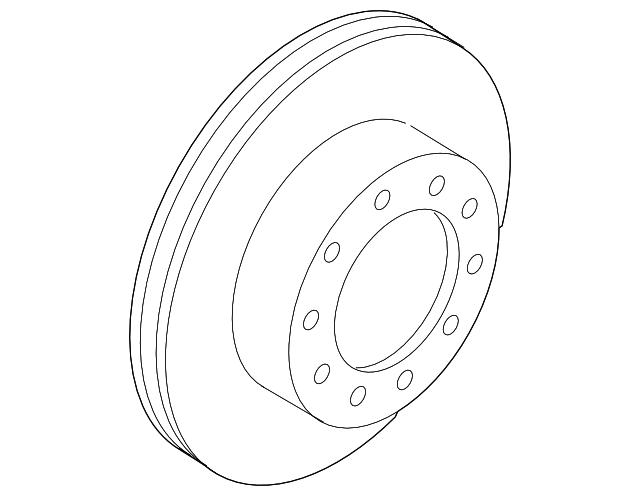 5c3z 1125 Ab Super Duty Front Brake Rotor